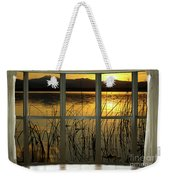 Golden Lake Bay Picture Window View Weekender Tote Bag