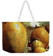 Golden Large Fountain Urns Weekender Tote Bag