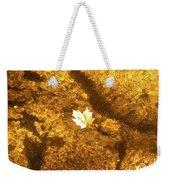 Golden Leaf In Water Weekender Tote Bag