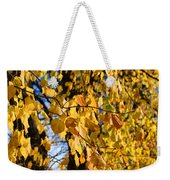Golden Leaves Weekender Tote Bag