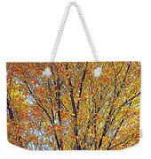 Golden Leaves - Oil Paint Weekender Tote Bag