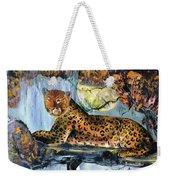 Golden Leopard Weekender Tote Bag