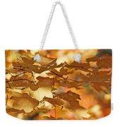 Golden Light Autumn Maple Leaves Weekender Tote Bag