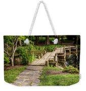 Golden Light On Footbridge Japanese Garden Maymont Weekender Tote Bag