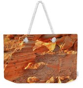 Golden Light On Valley Of Fire Arch Weekender Tote Bag