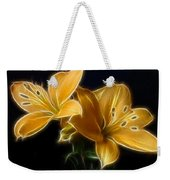 Golden Lilies Weekender Tote Bag