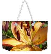 Golden Lily Flower Orange Brown Lilies Art Prints Baslee Troutman Weekender Tote Bag