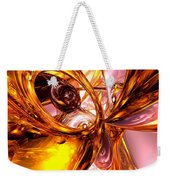 Golden Maelstrom Abstract Weekender Tote Bag