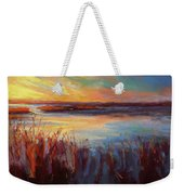 Golden Marsh Weekender Tote Bag