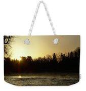 Golden Mississippi River Sunrise Weekender Tote Bag