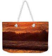 Golden Ocean City Sunrise Weekender Tote Bag