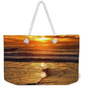 Golden Pacific Sunset Weekender Tote Bag