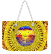 Golden Parrot Mandala Weekender Tote Bag