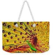 Golden Peacock Weekender Tote Bag