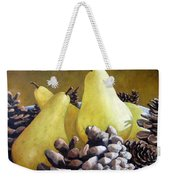 Golden Pears And Pine Cones Weekender Tote Bag