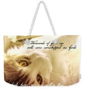 Golden Quote Weekender Tote Bag