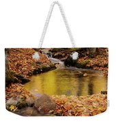 Golden Reflections In A Stream On The Blanchet Trail Gatineau Pa Weekender Tote Bag