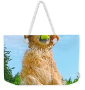 Golden Retriever Catch The Ball  Weekender Tote Bag