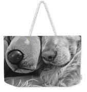 Golden Retriever Dog And Friend Weekender Tote Bag
