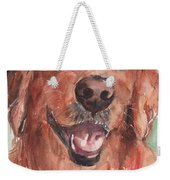 Golden Retriever Dog In Watercolori Weekender Tote Bag
