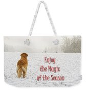Golden Retriever Dog Magic Of The Season Weekender Tote Bag