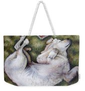 Golden Retriever Puppy Weekender Tote Bag