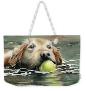 Golden Retriever Swimming Weekender Tote Bag