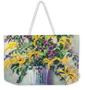 Violet And Gold Weekender Tote Bag