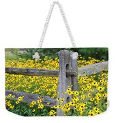 Golden-rod  Crowd Out Weekender Tote Bag