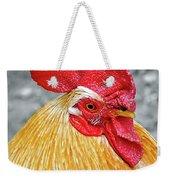 Golden Rooster Portrait Weekender Tote Bag