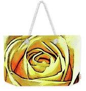 Golden Rose Flower Weekender Tote Bag