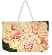 Golden Roses Weekender Tote Bag