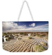 Golden Sand Lines And Seaweed Rocks Of Norfolk Weekender Tote Bag