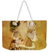 Golden Santa Card 2015 Weekender Tote Bag