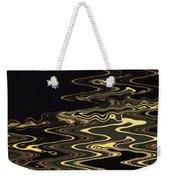 Golden Shimmers On A Dark Sea Weekender Tote Bag