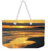 Golden Shore Weekender Tote Bag