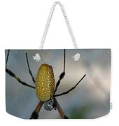 Golden Silk Spider 2 Weekender Tote Bag