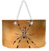 Golden Silk Spider 3 Weekender Tote Bag