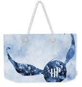 Golden Snitch-blue Weekender Tote Bag