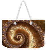 Golden Sparkling Spiral Weekender Tote Bag