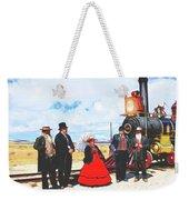Golden Spike Railroad - Wating - 0749 G Weekender Tote Bag