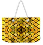 Golden Stained Glass Weekender Tote Bag