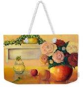 Golden Still Life Weekender Tote Bag