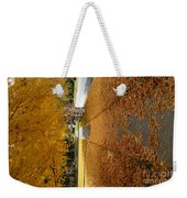 Golden Streets Weekender Tote Bag