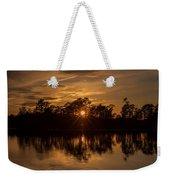 Golden Sunburst At The Lake New Jersey  Weekender Tote Bag