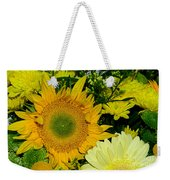 Golden Sunflower Yellow Bouquet By Kaye Menner Weekender Tote Bag