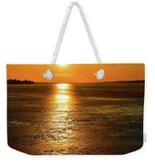 Golden Sunset Light On The Ice Two  Weekender Tote Bag