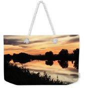 Golden Sunset Reflection Weekender Tote Bag