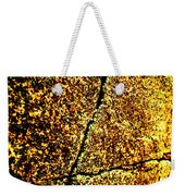 Golden Texture Abstract Weekender Tote Bag