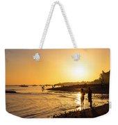 Golden Tropics Hot Beach Sun Weekender Tote Bag